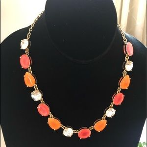 J. Crew Jewelry - J Crew Factory neon stone and crystal necklace